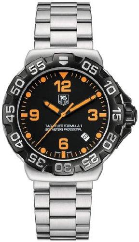 Tag Heuer Formula 1 Black Dial Stainless Steel Mens Watch WAH1116BA0858