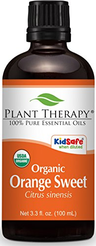 Plant Therapy Orange Sweet Organic Essential Oil 100 mL (3.3 oz) 100% Pure, Undiluted, Therapeutic Grade