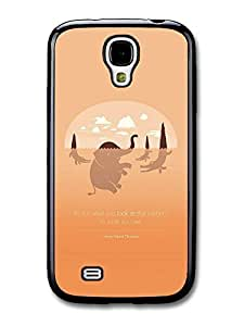 AMAF ? Accessories It's Not What You Look At That Matters Henry David Thoreau Inspirational Quote case for Samsung Galaxy S4