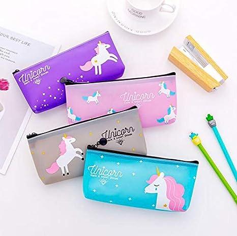 Bolsa de Lápices de unicornio para niñas, regalo de ...