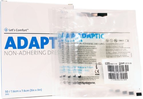 Adaptic Non-Adherent Dressing 3 x 3 (Box of 50) by Systagenix ()