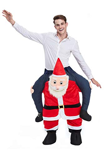 Christmas Piggyback Costumes Funny Carry Ride On Me Shoulder Santa Costumes Fancy Dress ()