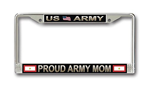 One Gold Star Proud Army Mom License Frame - American Made - Veteran Approved!