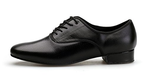 Image of NLeahershoe Breathable Lace-up Dancing Leather Latin Shoes for Men Salsa, Tango,Ballroom,Viennese Waltz