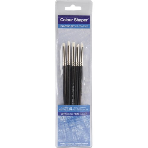 Forsline and Starr Painting Tool and Pastel Blending Sets assorted soft no. 2 set of 5