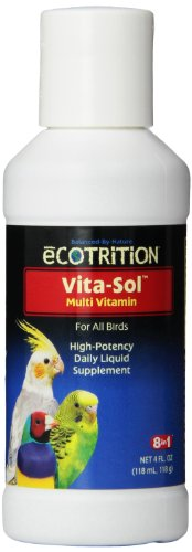 Eight in One (8 In 1) 8 In 1 Pet Products BEOD328 Vita-Sol High Potency Multi-Vitamin Bird Supplement, 4-Ounce