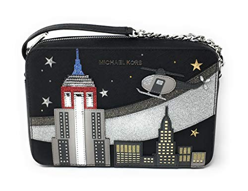 MIchael Kors Limited Edition Novelty New York Jet Set Cross Body Black ...