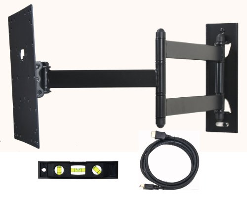 VideoSecu Articulating TV Wall Mount Tilting Swivel LCD LED TV Mount for Dynex Class / 720p LCD LED HDTV DX-26L150A11 DX-26L100A13 DX-32E150A11 DX-32L200A12 DX-32L220A12 DX-32L100A13 BGN by VideoSecu