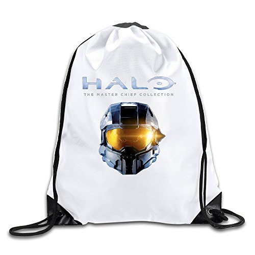 Halo First-person Shooter Video Game Handbags Drawstring Beam Port Backpack Cotton Bags