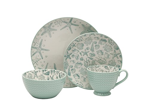 Pfaltzgraff Venice 16-Piece Stoneware Dinnerware Set, Service for 4
