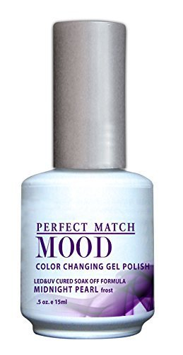 LeChat Mood Color Changing Soak Off Gel Polish - Midnight Pearl - Frost - MPMG07 Midnight Pearl