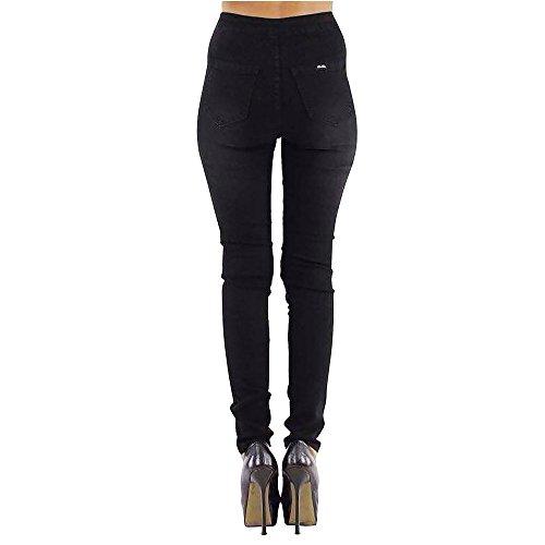 Ladies Fit Comfy Skinny Washed Denim Slim Ladies SCO Waist Rise Black New Jeans Trousers Tube Stretch High Womens 7Sa4cav