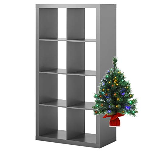 Better Homes and Gardens 8-Cube Organizer with Tree Bundle, Gray