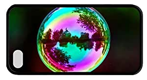 Hipster grove iPhone 4S cases soap bubble TPU Black for Apple iPhone 4/4S