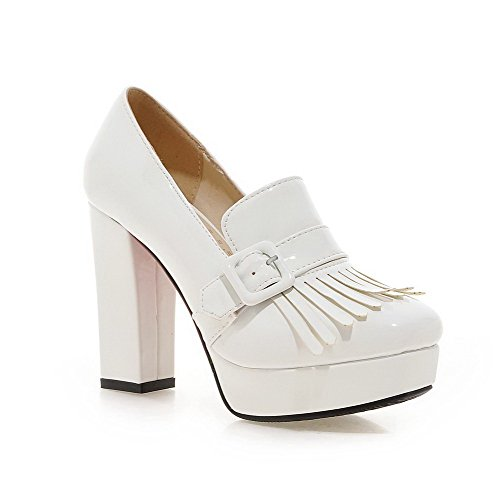 voguezone009-womens-solid-patent-leather-high-heels-square-closed-toe-pull-on-pumps-shoes-white-38