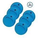 reusable canning jars - Reusable Food Grade and BPA Free Silicone Circulr Drinking Sip Lid for Mason, Ball, Canning Jars (Regular Mouth, Blue)