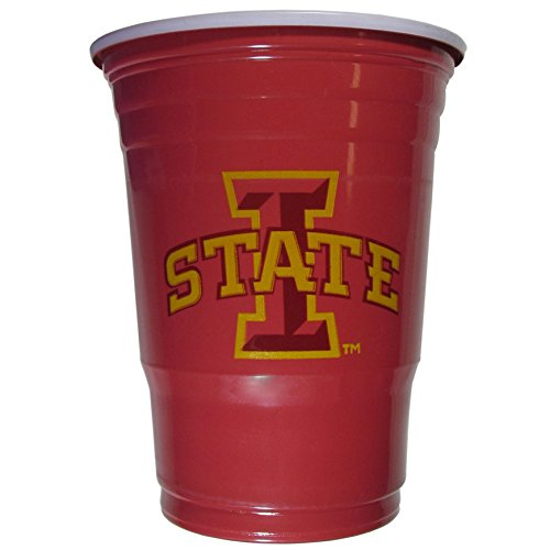 Iowa State Cyclones Game - NCAA Siskiyou Sports Iowa State Cyclones Plastic Game Day Cups, 18 Count, (18 oz) Team Color