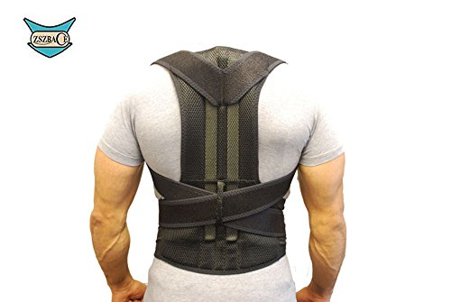 Posture Corrector Comfortable Back Support Brace Work Belt Adjustable Waist Lumbar Heavy Lift Belts Economy Elastic Back Support Belt for Men Women (XXL)