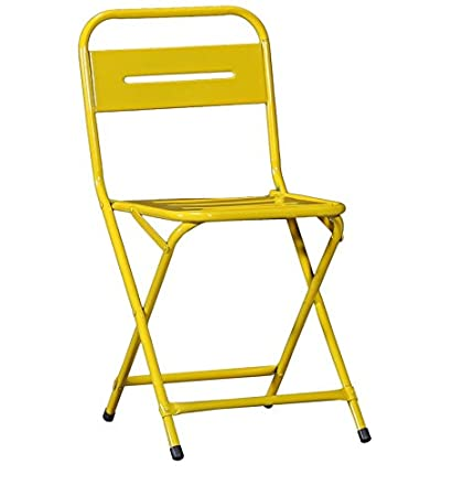 The Craft House Outdoor Folding Metal Chair In Yellow Colour