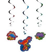 "Amscan Dashing Prehistoric/Dinosaur Value Pack Swirl Birthday Party Decorations, 3"" x 5"""