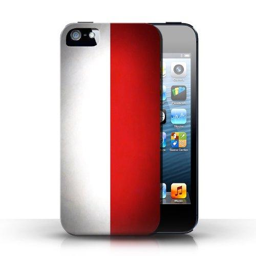 Etui / Coque pour Apple iPhone 5/5S / Pologne/polonais conception / Collection de Drapeau
