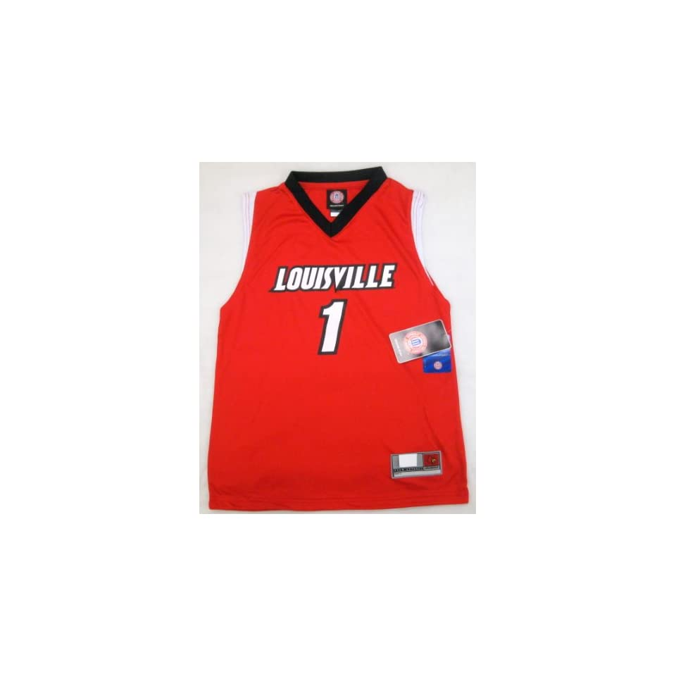 NCAA Louisville Cardinals #1 Youth Basketball Jersey Small (Size 8) Red