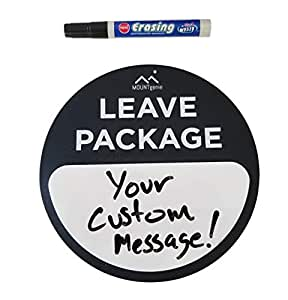The Package Mat Deluxe [Dry - Erase] by Mount Genie: Stops Package Theft. The Simplest Way to Let Delivery People Know Where to Leave Your Package with Custom Message Dry Erase Board