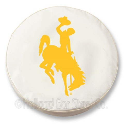 Wyoming Cowboys White Tire Cover, Small by Covers by BG