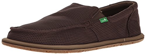 Sanuk Mens Trailgater Mesh Loafer Brown Mesh