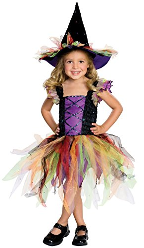 Girls Glitter Witch Costumes (Rubie's Costume Co. Baby Girls' Storytime Wishes Glitter Witch Costume,As Shown,Infant(US Size 1-2 6/12months))