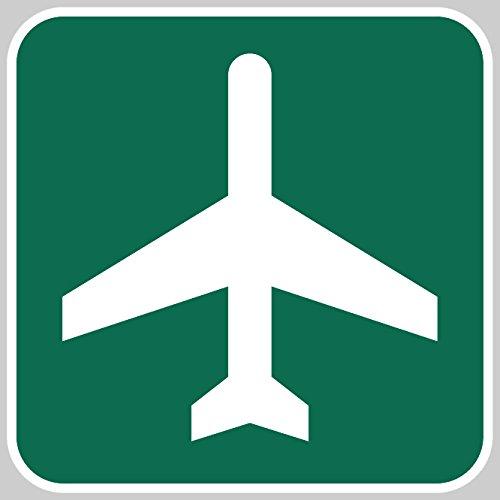 Airport Ahead - Metal Reflective Road - In Airport Phoenix