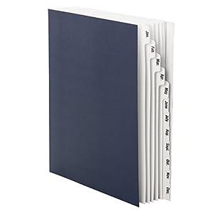 Smead Desk File/Sorter, Monthly (Jan-Dec), 12 Dividers, Letter Size, Blue (89286)