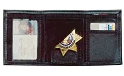 DeSantis Ambidextrous - Black - Leather Badge/ID Wallet
