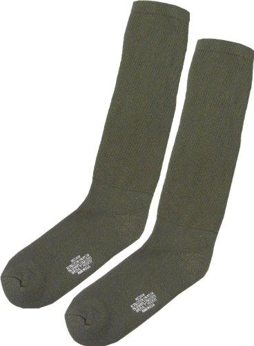 Gi Cushion Sole Socks - Rothco Gov't Irr Cotton Cushion Sole Socks, Olive Drab, Large