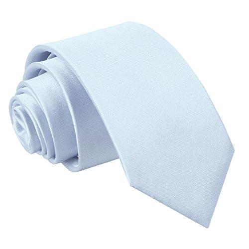 Neck Blue DQT Wedding Slim Baby Classic Men Plain Tie Satin wqUSwYz
