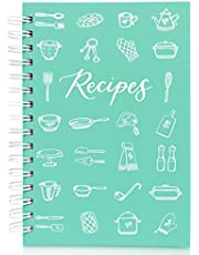 """Teal Petal Blank Recipe Book To Write In Your Own Recipes - Recipe Notebook, Hardcover Recipe Journal Keepsake Cookbook for Organizing Favorite Family Recipes With Tabs, 5.75x8.75"""""""