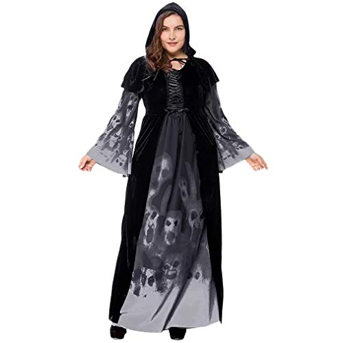 CbMoun Halloween Plus Size Widow Oversize Girl Costume,