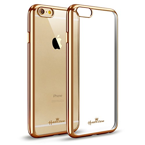 iPhone 6s Case,Hallsen [Electroplating TPU] Ultra-Slim Transparent Crystal Clear Anti-Scratch Flexible Soft TPU Case Cover for Apple iPhone 6/6s ...