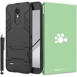 LG K8 2018 Aristo 2 Case [Built-in Kickstand] [Shock Absorbing] Detachable 2 in 1 Hybrid Heavy Duty Armor Dual Layer Rugged Protective Hard Back Cover Case For LG K8 2018 / Aristo 2 / Tribute Dynasty
