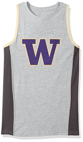 Outerstuff NCAA Washington Huskies Boys 4-7 Fan Gear Tank Shirt, Small (4), Heather Grey
