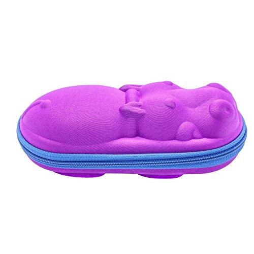 Happy Hippo Glasses Case - Purple