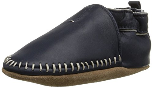Robeez Classic Moccasin Crib Shoe , Navy, 0-6 Months M US - Crib Classic Shoes