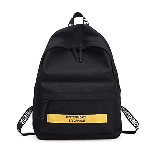 School Bag Black Vhvcx Girl Colore Donna Teenager Leisure Shoulder Mano Women Ravel Simple Backpack w0qOx7Ug0