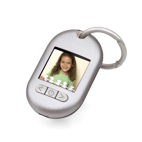 Gear Head 1.5-inch Digital Keychain (TFT) (Brushed Silver)