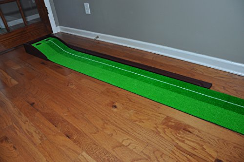 GOLF PUTTING MAT - PREMIUM WOODEN PUTTING GREEN - MINI GOLF by Everyday golf aids (Image #2)