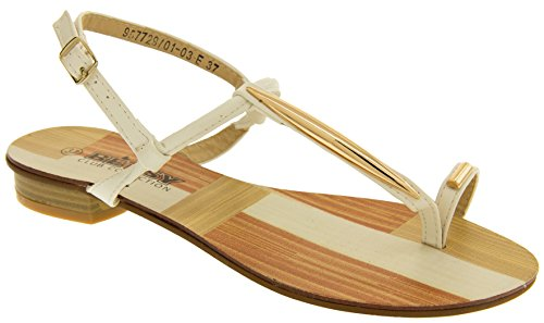 Betsy Donna Gladiatore Sintetici Bianco Sandali 6T8q6R