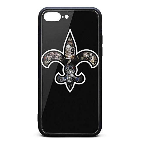 Team Logo Brees Phone Case for iPhone 7Plus/8Plus TPU Gel Full Protective Cute Anti-Scratch Fashionable Glossy Anti Slip Thin Shockproof Soft Case