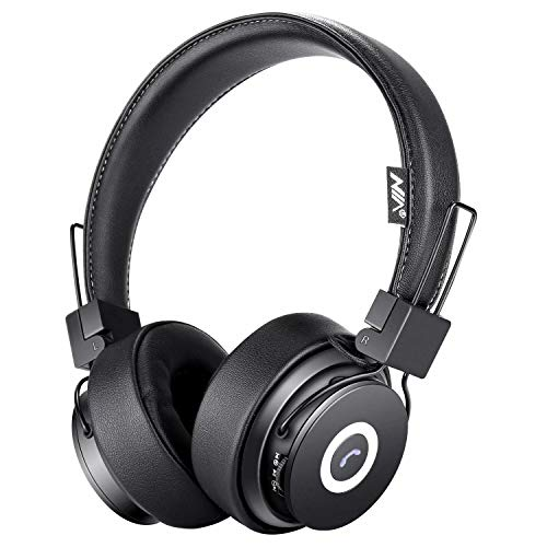 - Bluetooth Headphones On Ear, Hi-Fi Stereo Foldable Over-Ear Headset with Microphone, APP to Control Headphones, Soft Earmuffs Support SD Card FM Radio Wired and Wireless Headset for Kids Adults, Black