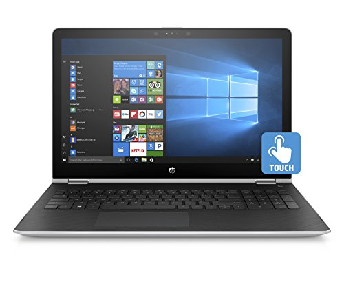 HP Pavilion x360 15-inch Convertible Laptop Intel Core i5-7200U 8GB RAM 1TB hard drive Windows 10 (15-br010nr Silver)