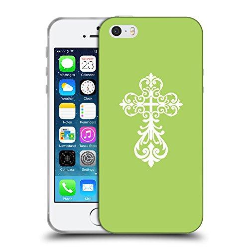 GoGoMobile Coque de Protection TPU Silicone Case pour // Q09240628 Croix chrétienne 34 poule // Apple iPhone 5 5S 5G SE
